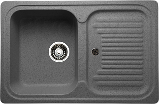 Мойка кухонная Granicom G013-04 (серый) - реальный цвет модели может немного отличаться от цвета, представленного на фото