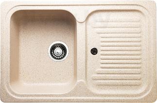 Мойка кухонная Granicom G013-09 (персик) - реальный цвет модели может немного отличаться от цвета, представленного на фото
