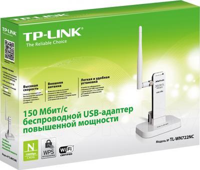 Беспроводной адаптер TP-Link TL-WN722NC - коробка