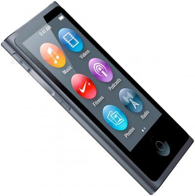 MP3-плеер Apple iPod nano 16Gb ME971RU/A (серый) - вид сбоку