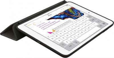 Чехол для планшета Apple iPad Air Smart Case MF051ZM/A (Leather Black) - в раскрытом виде