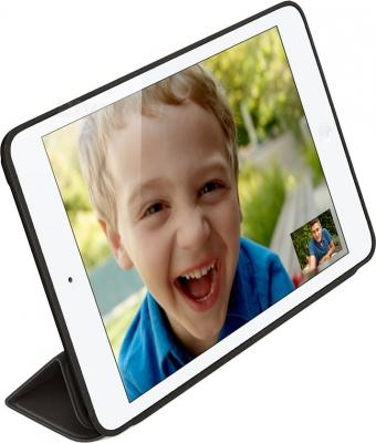 Чехол для планшета Apple iPad Air Smart Case MF051ZM/A (Leather Black) - вполоборота