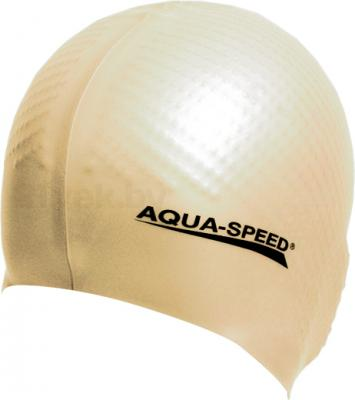 Шапочка для плавания Aqua Speed Biomassage 118 (Beige) - общий вид