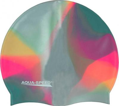 Шапочка для плавания Aqua Speed Bunt 113 (Pink-Gray) - общий вид
