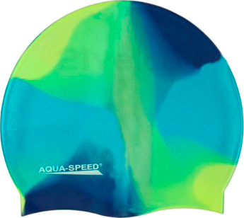 Шапочка для плавания Aqua Speed Bunt 113 (Blue-Green) - общий вид