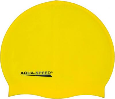 Шапочка для плавания Aqua Speed Junior 129 (Yellow) - общий вид