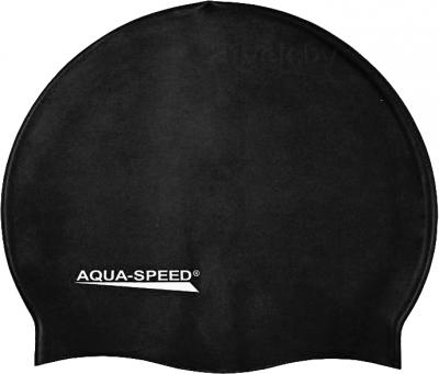 Шапочка для плавания Aqua Speed Junior 129 (Black) - общий вид