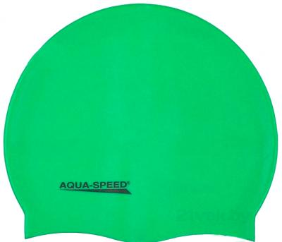 Шапочка для плавания Aqua Speed Mono 111 (Green) - общий вид