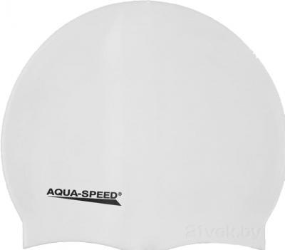 Шапочка для плавания Aqua Speed Mono 111 (White) - общий вид