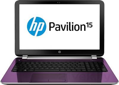 Ноутбук HP Pavilion 15-n290er (G5E38EA) - фронтальный вид
