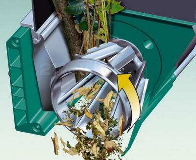 Садовый измельчитель Bosch AXT 25 TC (0.600.803.300) - принцип работы