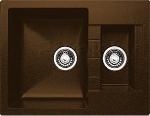 Мойка кухонная Granicom G017-02 (шоколад) - реальный цвет модели может немного отличаться от цвета, представленного на фото