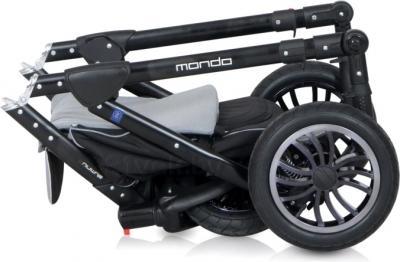 Детская универсальная коляска Expander Mondo Black Line 2 в 1 (Pink) - в сложенном виде (carbon)