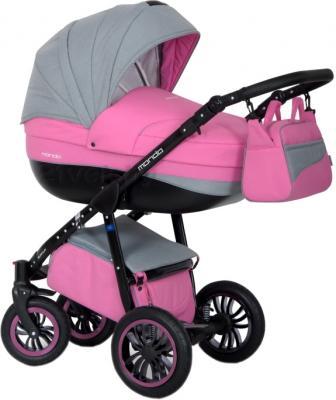 Детская универсальная коляска Expander Mondo Black Line 2 в 1 (Pink) - общий вид