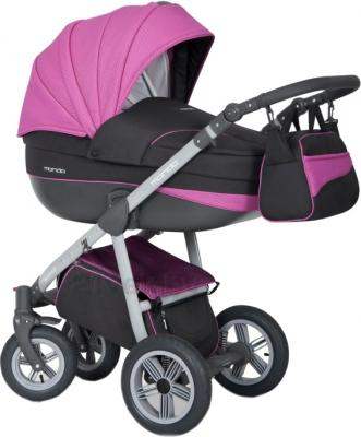 Детская универсальная коляска Expander Mondo Grey Line 2 в 1 (Pink) - общий вид