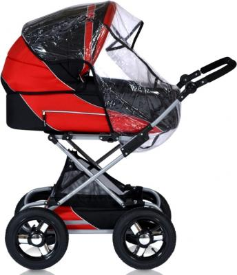 Детская универсальная коляска Riko Balerina 2 в 1 (08) - дождевик (цвет warm red)