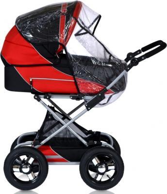 Детская универсальная коляска Riko Balerina 2 в 1 (09) - дождевик (цвет warm red)