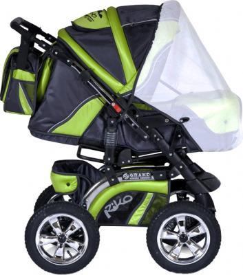 Детская универсальная коляска Riko Grand (Cafe Latte) - противомоскитная сетка (цвет Lime)