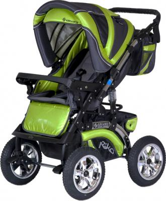 Детская универсальная коляска Riko Grand (Cafe Latte) - прогулочная (цвет Lime)