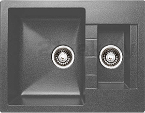 Мойка кухонная Granicom G017-04 (серый) - реальный цвет модели может немного отличаться от цвета, представленного на фото