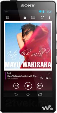 MP3-плеер Sony NWZ-F886B - вид спереди