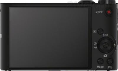 Компактный фотоаппарат Sony Cyber-shot DSC-WX350 (черный) - вид сзади