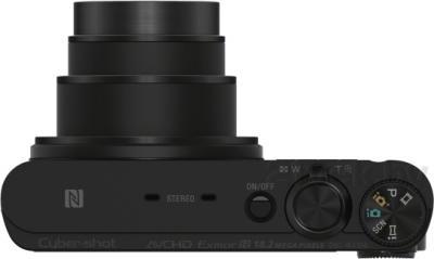 Компактный фотоаппарат Sony Cyber-shot DSC-WX350 (черный) - вид сверху