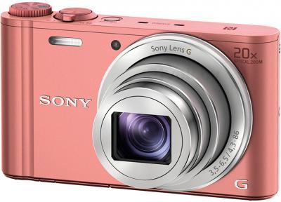 Компактный фотоаппарат Sony Cyber-shot DSC-WX350 (розовый) - общий вид