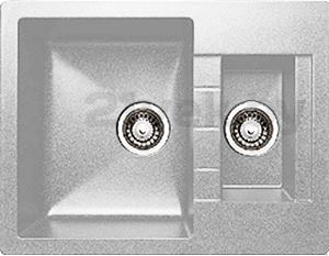 Мойка кухонная Granicom G017-05 (серебристый) - реальный цвет модели может немного отличаться от цвета, представленного на фото