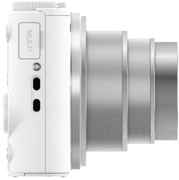 Компактный фотоаппарат Sony Cyber-shot DSC-WX350 (белый) - вид сбоку