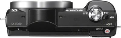 Беззеркальный фотоаппарат Sony Alpha ILCE-5000L (черный) - вид сверху