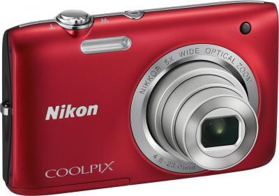 Компактный фотоаппарат Nikon Coolpix S2800 (Red) - общий вид