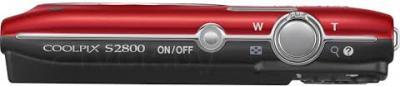 Компактный фотоаппарат Nikon Coolpix S2800 (Red) - вид сверху