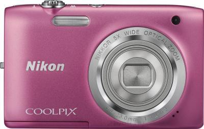 Компактный фотоаппарат Nikon Coolpix S2800 (Pink) - вид спереди