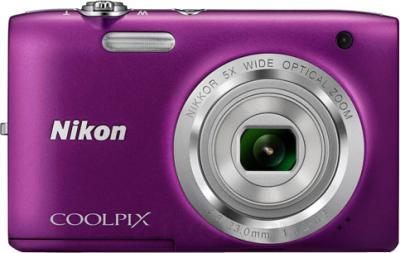 Компактный фотоаппарат Nikon Coolpix S2800 (Purple) - вид спереди