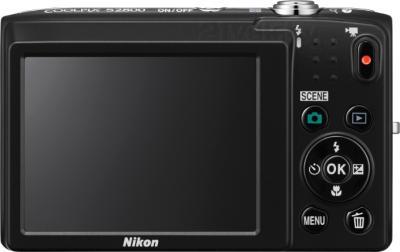 Компактный фотоаппарат Nikon Coolpix S2800 (Black) - вид сзади
