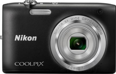 Компактный фотоаппарат Nikon Coolpix S2800 (Black) - вид спереди