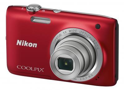 Компактный фотоаппарат Nikon Coolpix S3600 (Red) - общий вид