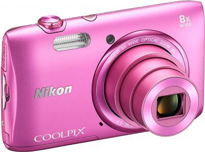 Компактный фотоаппарат Nikon Coolpix S3600 (Pink) - общий вид