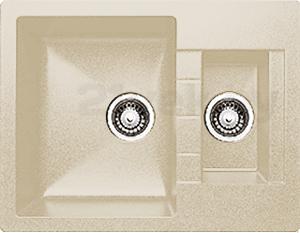 Мойка кухонная Granicom G017-07 (сахара) - реальный цвет модели может немного отличаться от цвета, представленного на фото
