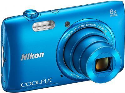 Компактный фотоаппарат Nikon Coolpix S3600 (Blue) - общий вид