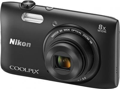 Компактный фотоаппарат Nikon Coolpix S3600 (черный) - общий вид