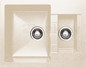 Мойка кухонная Granicom G017-09 (персик) - реальный цвет модели может немного отличаться от цвета, представленного на фото