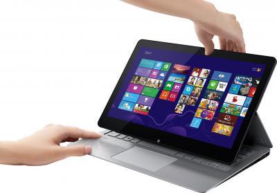 Ноутбук Sony Vaio Fit 13A (SVF13N2J2RS) - переход в планшетный вид