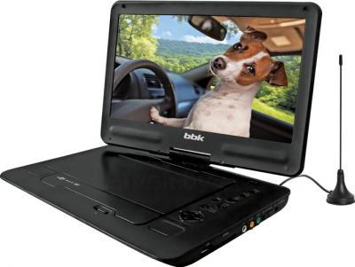 Портативный DVD-плеер BBK PL1044TG (черный) - общий вид