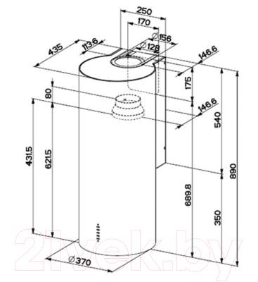 Вытяжка коробчатая Faber Cylindra EG8 X A37 ELN