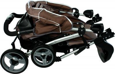 Детская прогулочная коляска Caretero Monaco (Brown) - в сложенном виде
