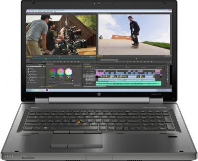 Ноутбук HP EliteBook 8770w (LY590EA) - фронтальный вид