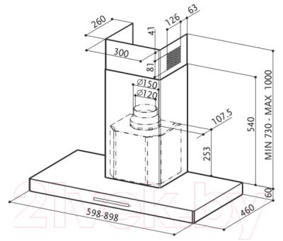 Вытяжка Т-образная Faber Stilux EG8 X A90 LOGIC