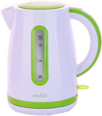 Электрочайник Smile WK 5124 (бело-зеленый) - общий вид